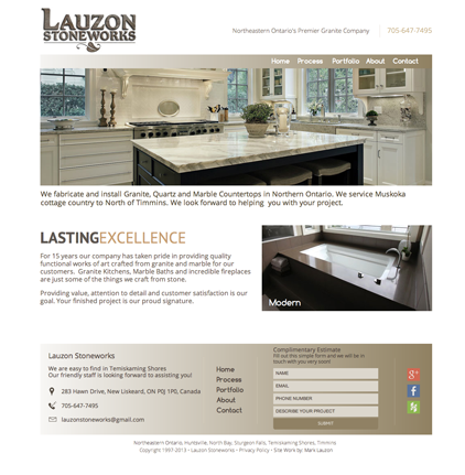 lauzon stoneworks website