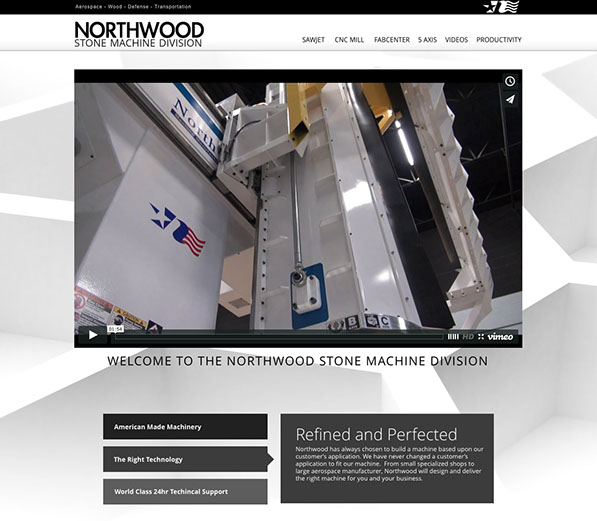 CNC machines and sawjets by the Northwood stone machine dvision